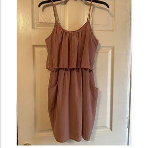 Rose Gold Spaghetti Strap Dress